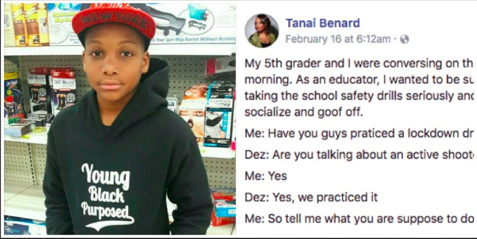 She asked her young son about school shooting drills. His shocking response went viral.