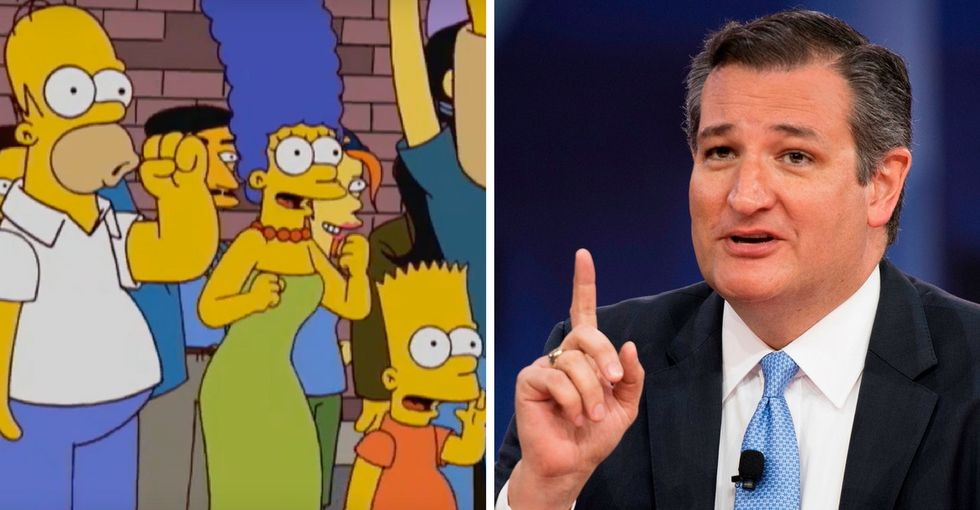 'Simpsons' creators hilariously slam Ted Cruz for his CPAC comments.