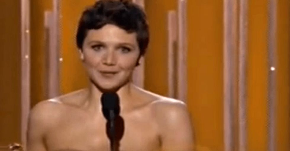 One of the best parts of the Golden Globes was Maggie Gyllenhaal's speech about women's roles.
