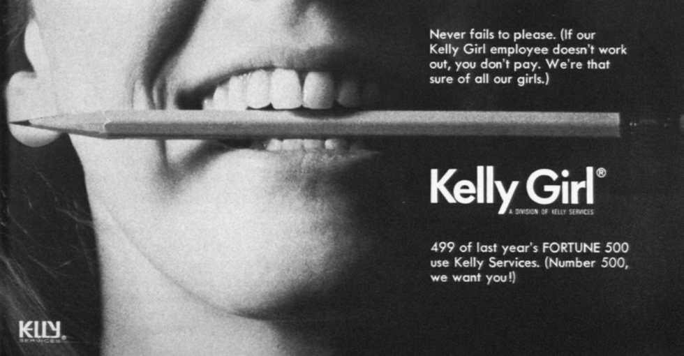 A 40-Year-Old Ad For Temps That's As Sexist As It Is Wildly Revealing About Today