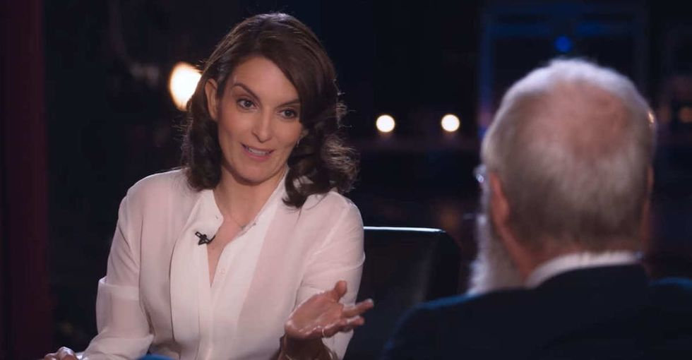 David Letterman tried to talk to Tina Fey about women in comedy. He got it very wrong.