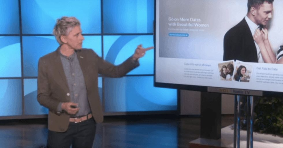 They asked 100,000 men what makes the 'perfect' woman. Ellen chimes in.