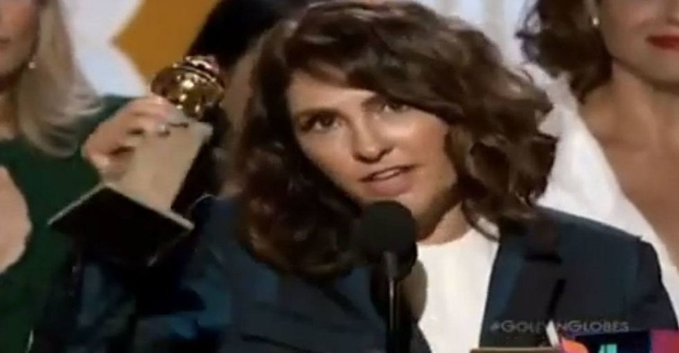 I was prepared for the same old boring acceptance speech, but then she went there.