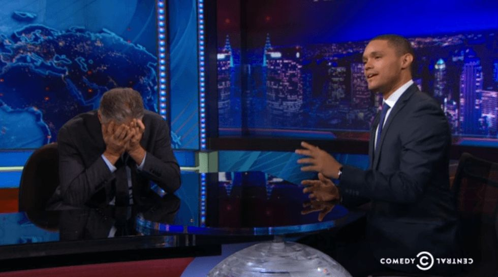 He Shows Side-By-Side Photos To Jon Stewart And Asks Him To Guess The Country. Mind-Blowing? Yes.