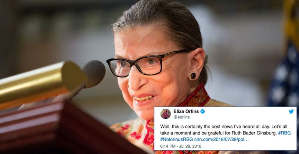 Ruth Bader Ginsburg shared some serious hope for the future — both hers and ours.