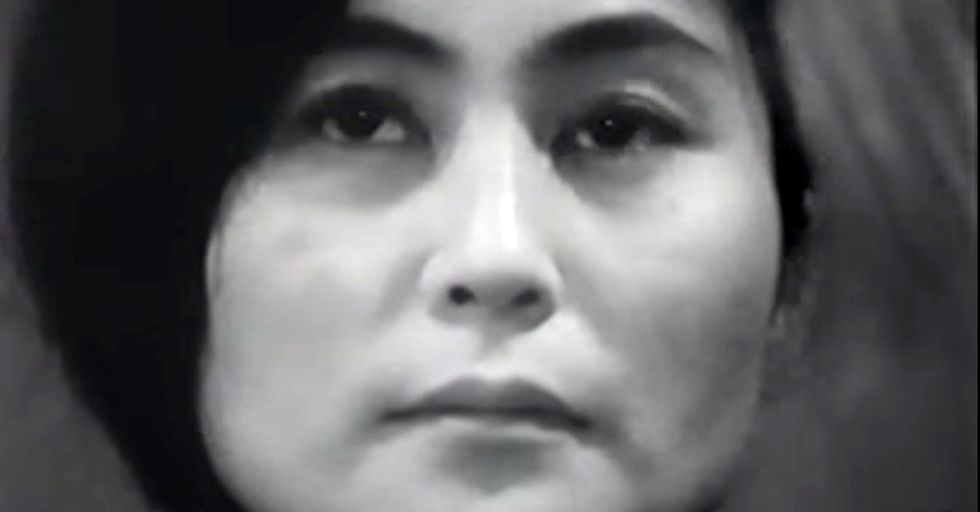 Yoko Ono Once Placed A Pair Of Scissors In Front Of Her. The One Instruction? 'Cut.'