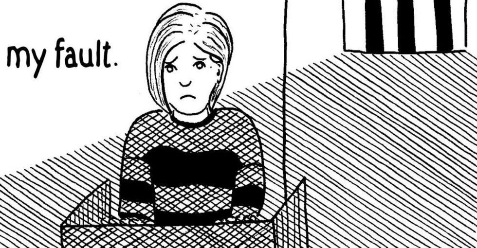 Why do sexual assault survivors feel shame? A cartoon sums it up.