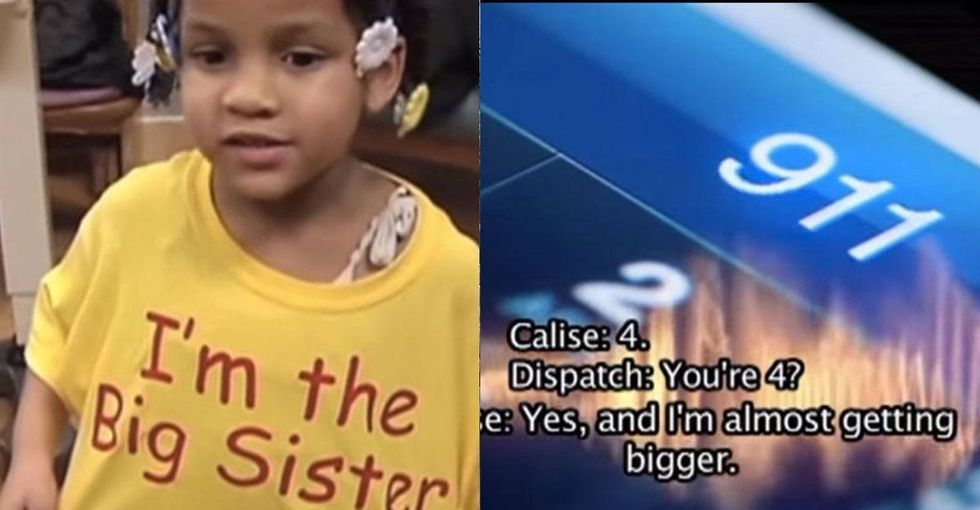 This preschooler called 911, and what she told the dispatcher blew me away.