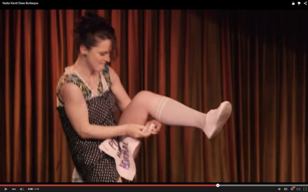 Watch a feminist comedian perform the most equality-driven burlesque I've ever seen.