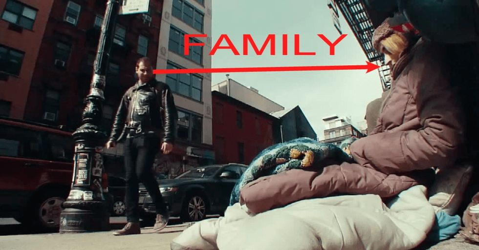 Watch them completely ignore their family and get a lesson about being homeless.