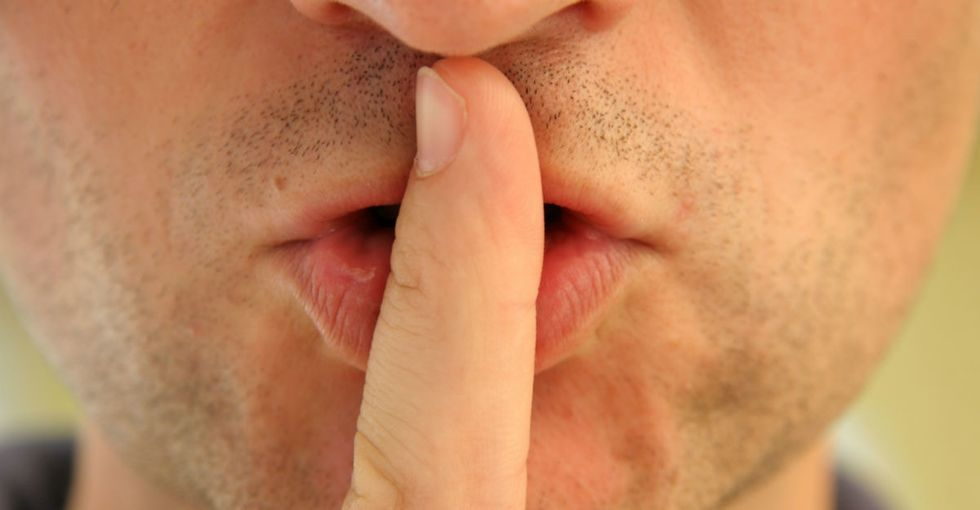 When an overconfident dude tells a woman to shush up ... here's what that really means.