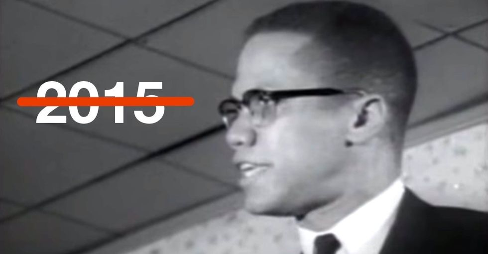 They dug up a Malcolm X speech that predicted so much of what's going on today. Creepy.