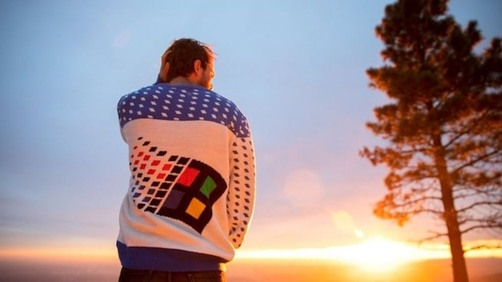 People are going to great lengths to get one of these Windows 95 ugly Christmas sweaters.