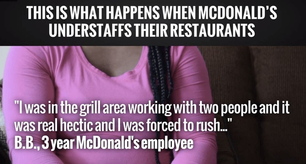 I saw this clip about McDonald's workers being told to put mustard on burns, and I had to Google it.