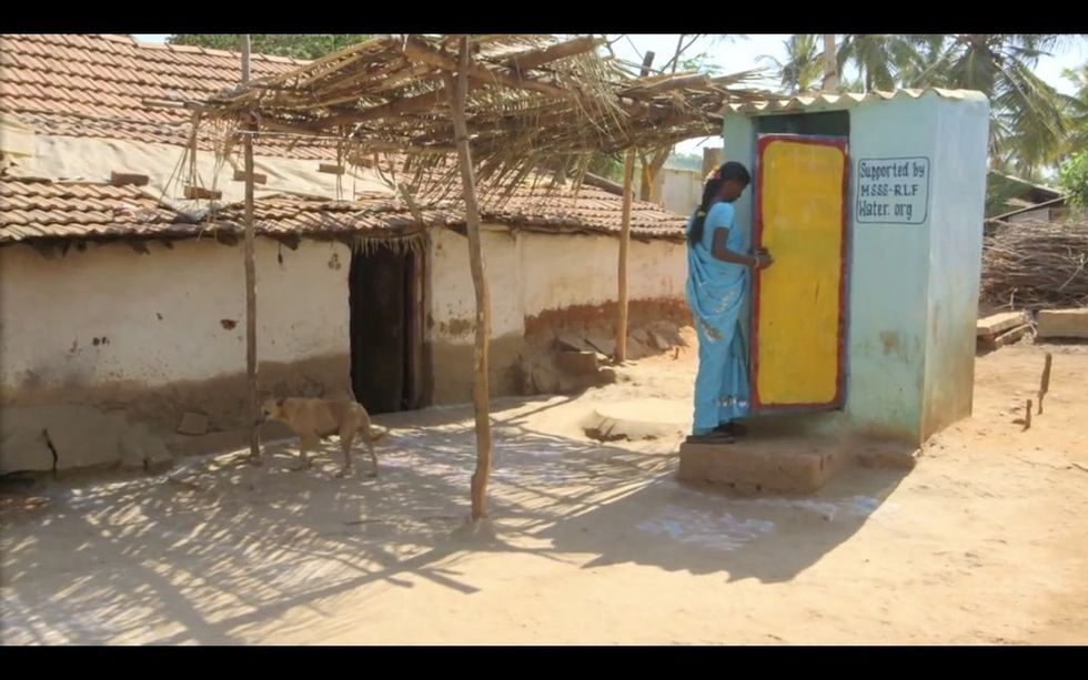 See how one woman's life changed forever when she got a toilet.