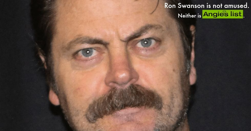 Well, Indiana is sure gonna be sorry now. First Angie's List and now Ron Swanson? OUCH.
