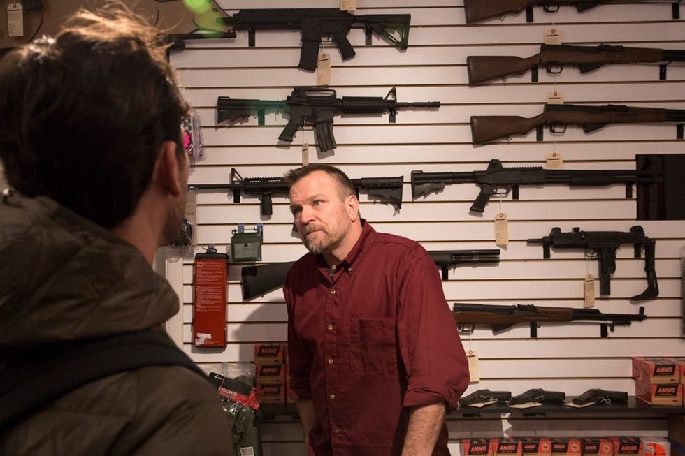 A man walks into a gun store and is 'blindsided' by what he reads on the price tag.