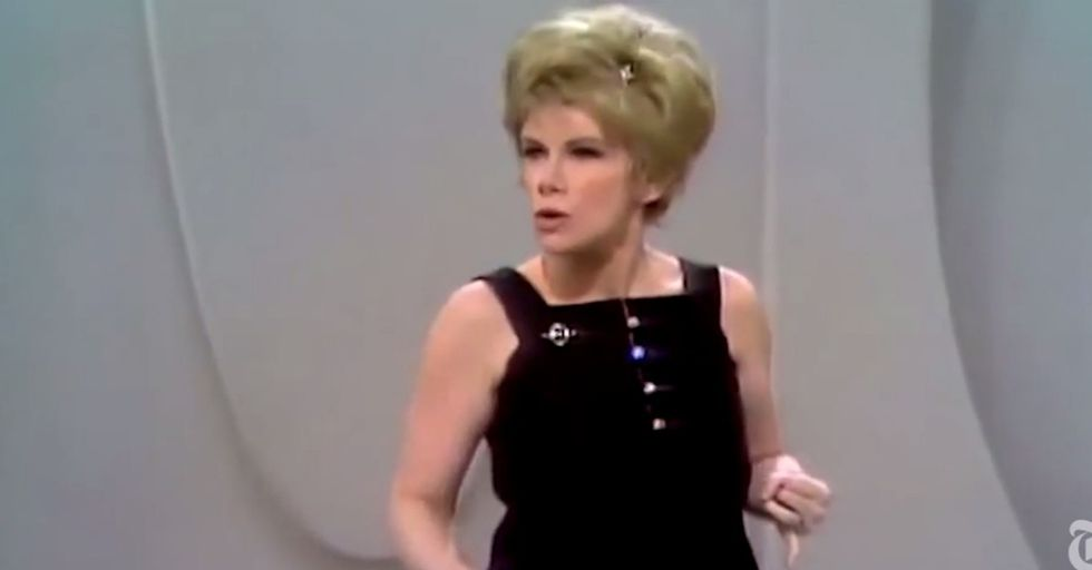 We may have just lost Joan Rivers, but here's 3 minutes from the last 50 years of her killing it.