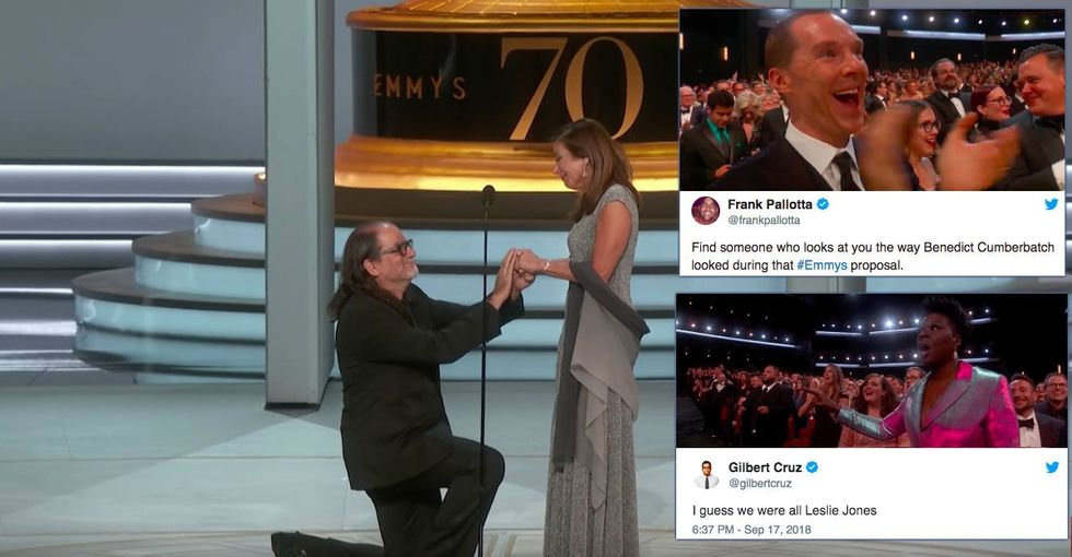 This live marriage proposal is the only reason the Emmys should exist.