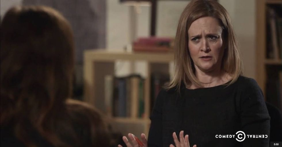 'The Daily Show's Samantha Bee did an eye-opening report about rapists and parental rights.