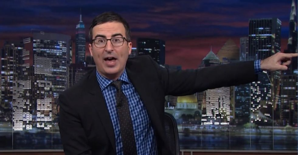 John Oliver shames the awful folks behind one of the biggest scams being run on college students.