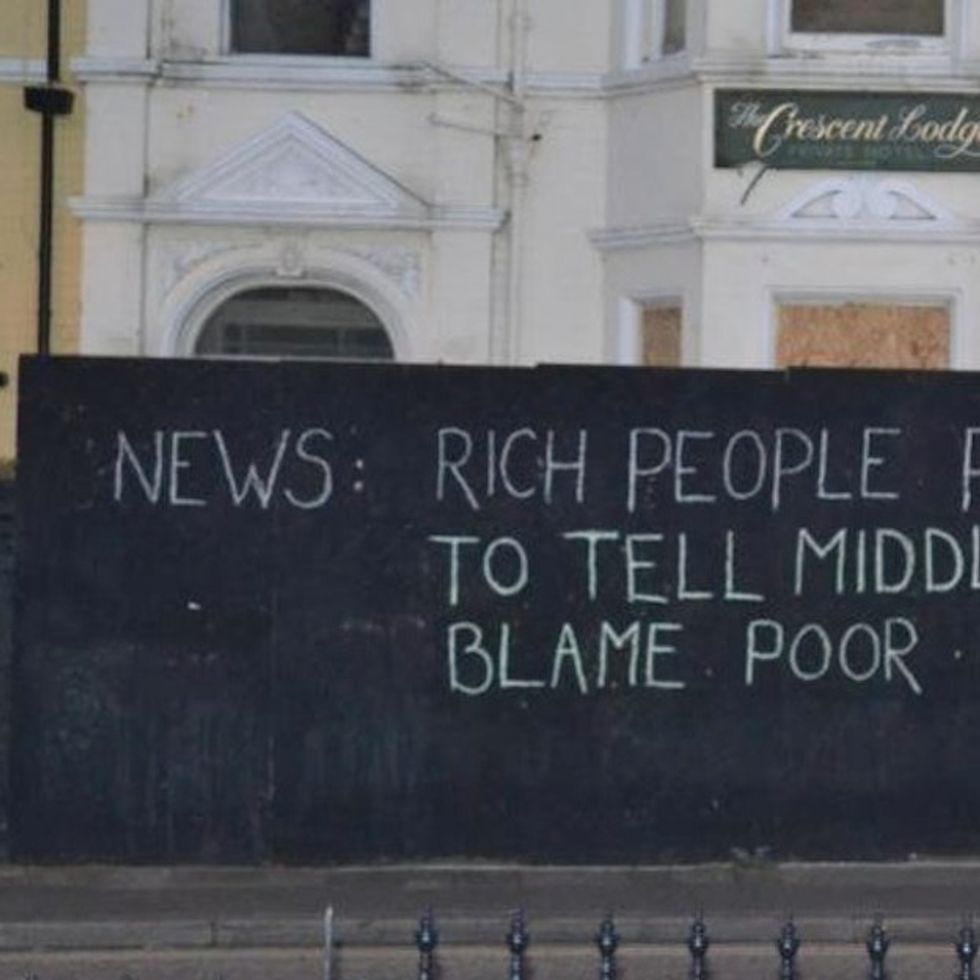 It May Look Like Graffiti, But It's Actually A Ridiculously Concise Indictment Of The Media
