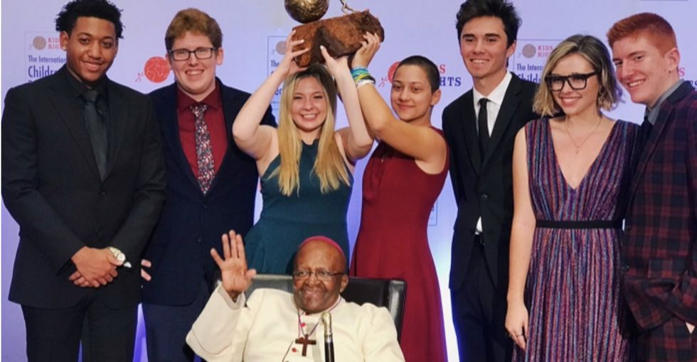 The Parkland survivors were just awarded a global peace prize.