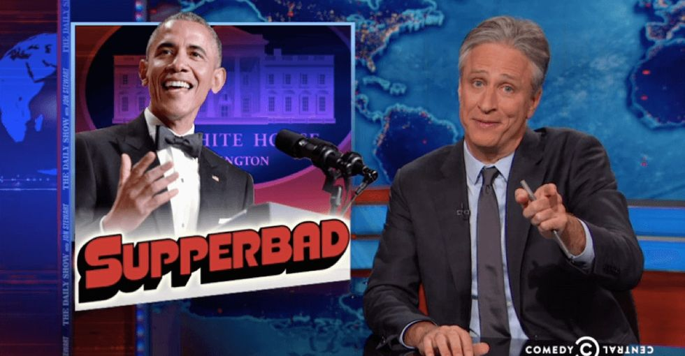 As Baltimore protested, mainstream press partied. Jon Stewart had something to say about that.