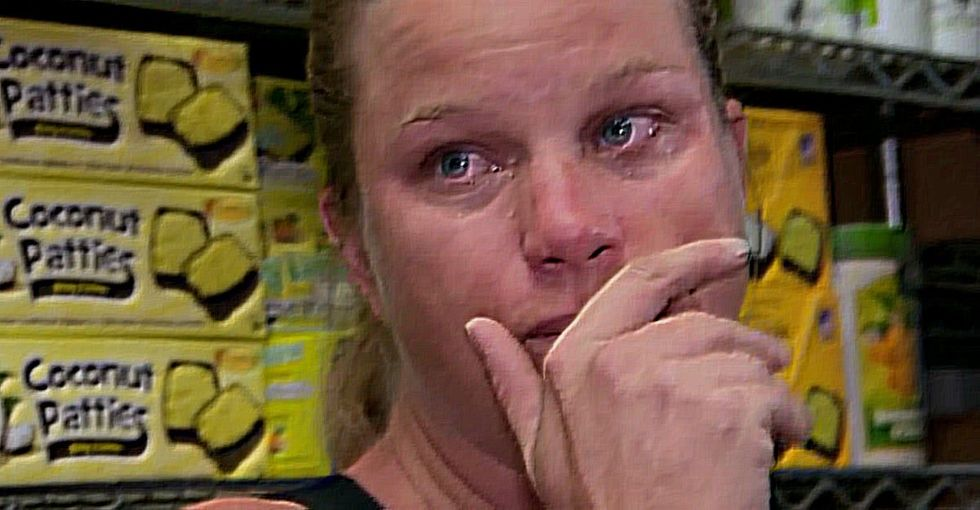 A mom of 2 (plus 1 on the way) bursts into tears when she's finally paid what she deserves.