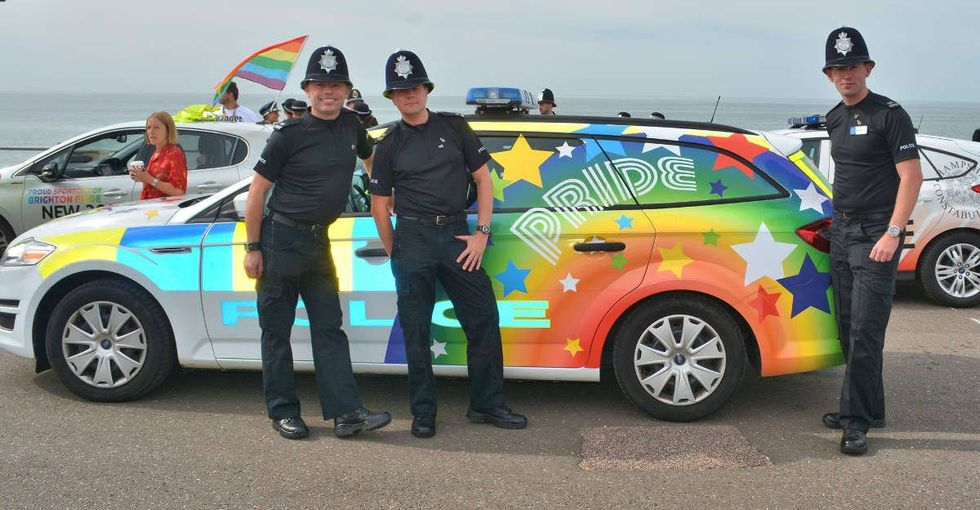 These cops responded perfectly when they were slammed for painting a car for LGBTQ Pride.