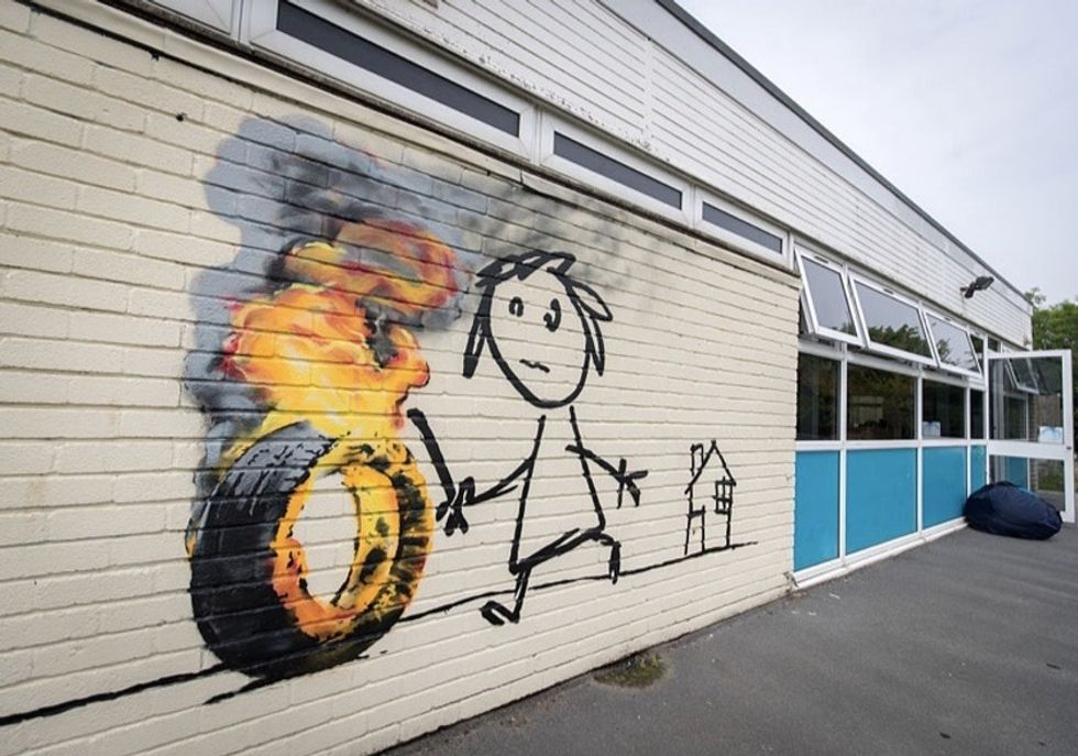 See how Banksy responded when an elementary school named a building after him.