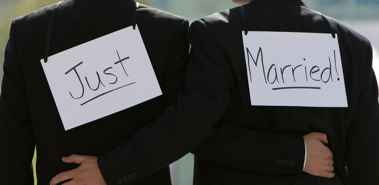 Just married! Photo: Justin Sullivan/Getty Images