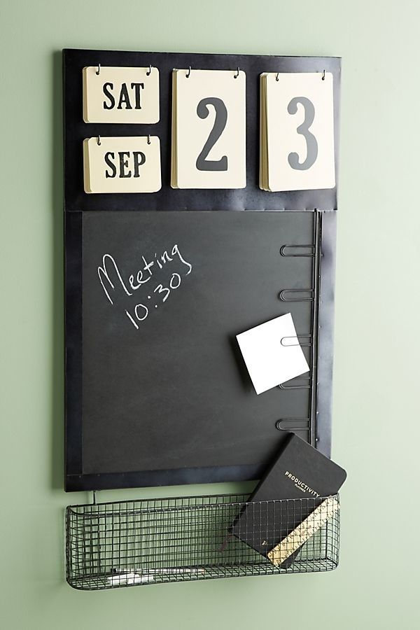 Anthropologie chalkboard calendar