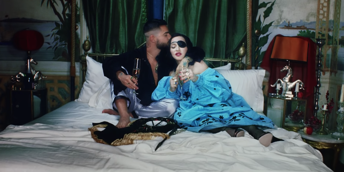 Madonna Wears An Eye Patch And Licks A Man's Toe In Her New Video