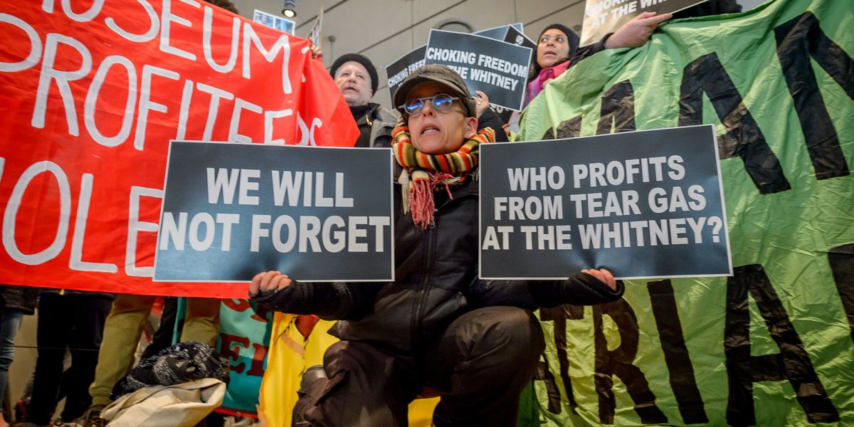 Biennial Artists Demand Tear Gas Manufacturer Step Down From Whitney Board