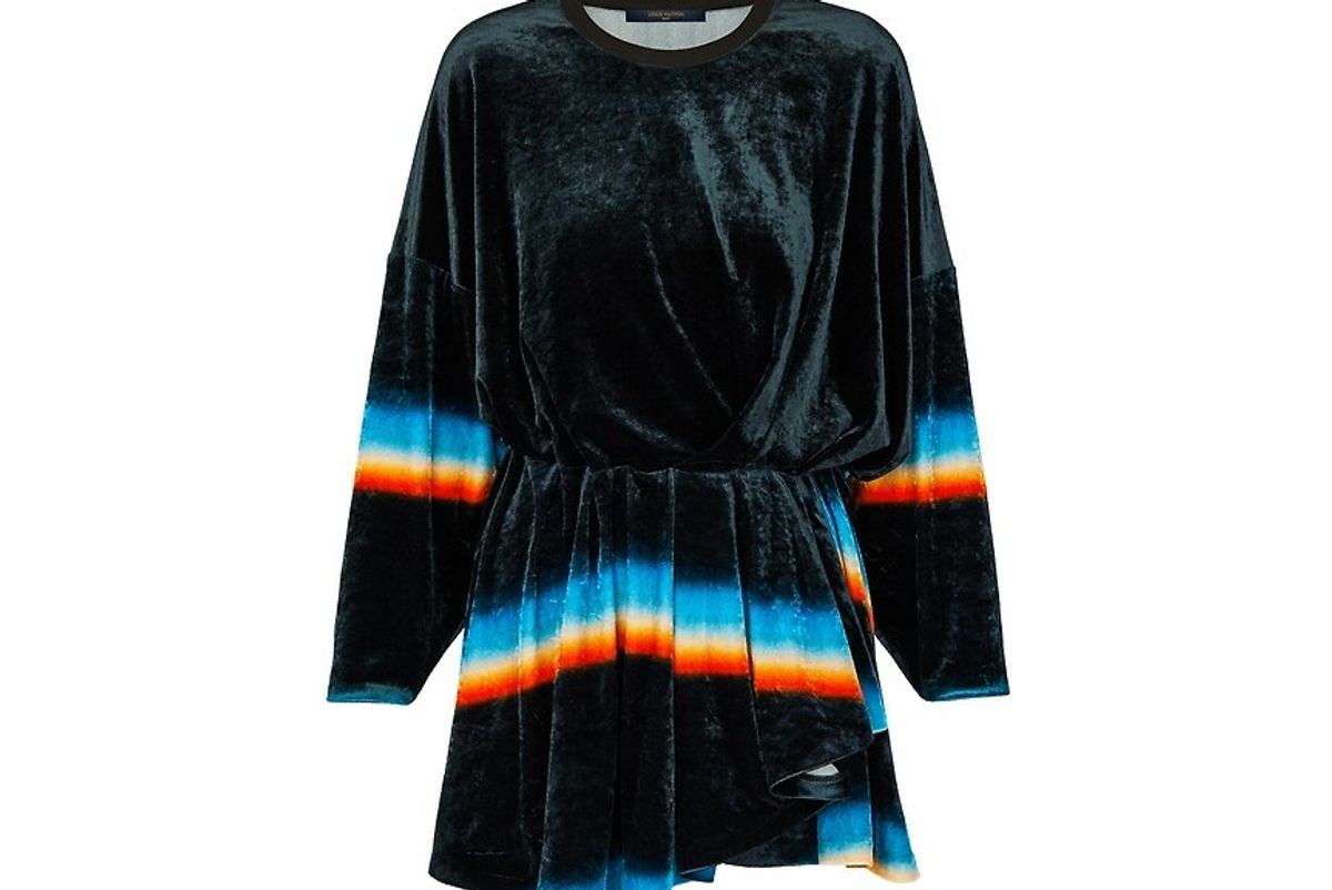Prism Print Jersey Velour Dress