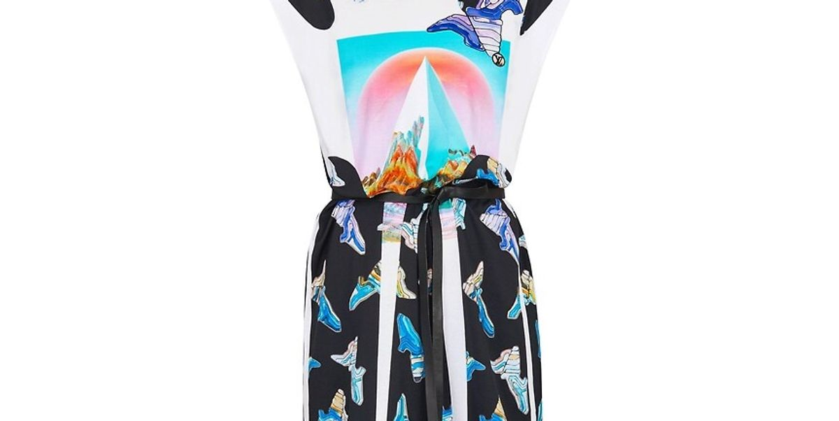 Sleeveless Printed Dress With Gel Patch