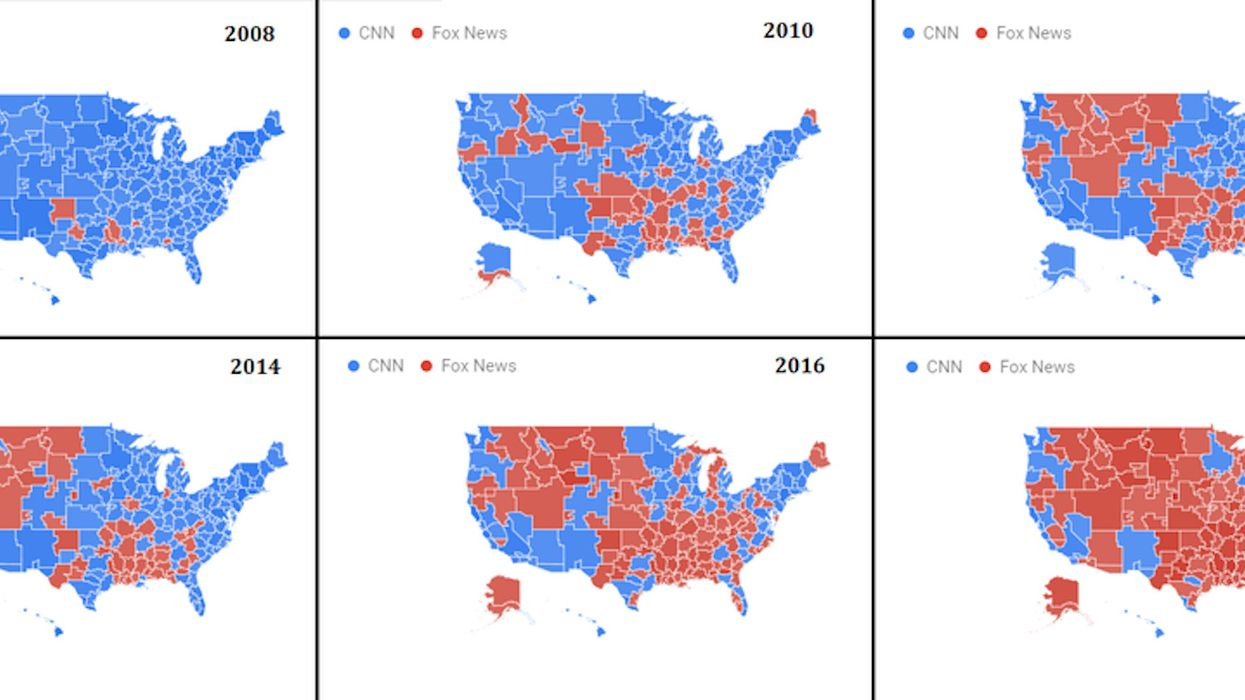 Maps show how CNN lost America to Fox News