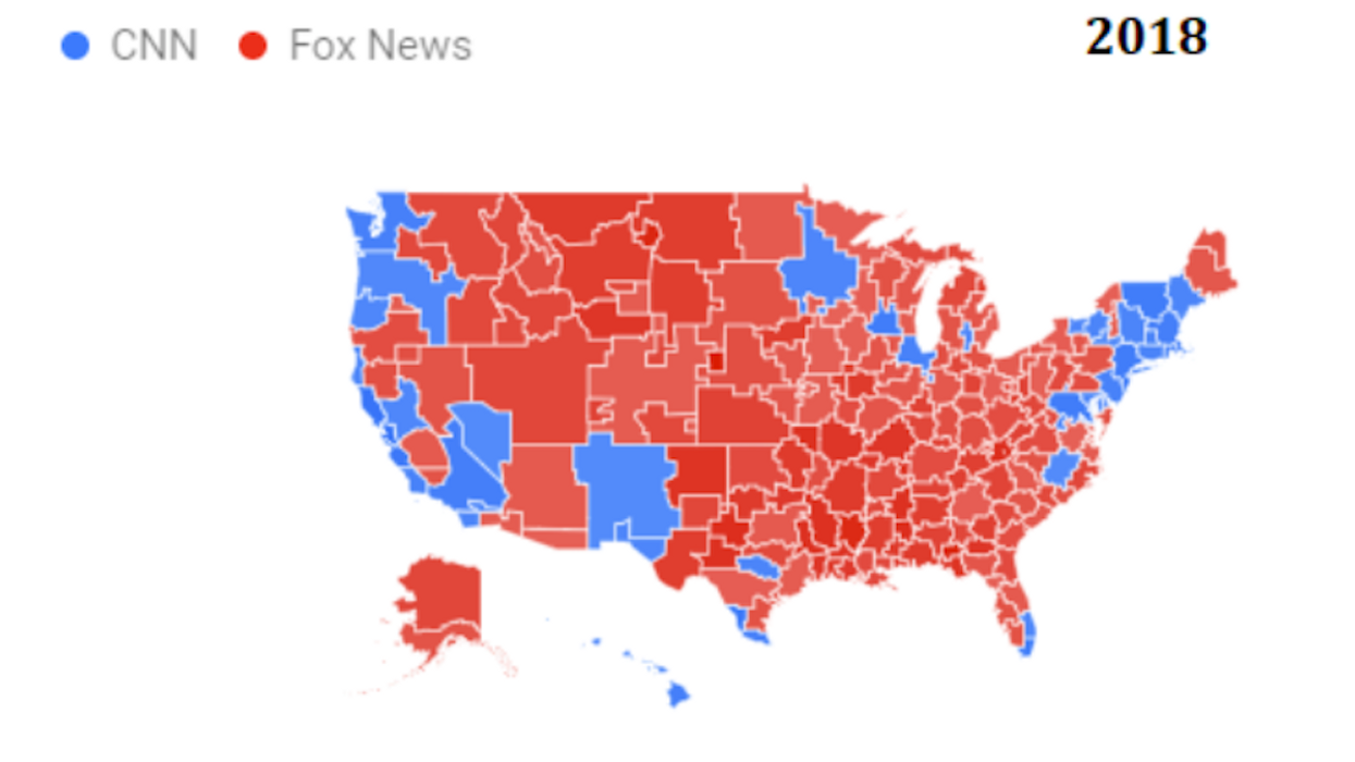Show The Map Of America.How Cnn Lost To Fox News Big Think