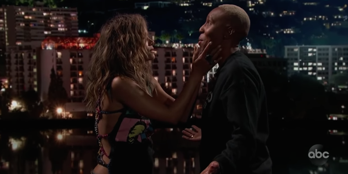 Halle Berry Kissed Lena Waithe On 'Jimmy Kimmel Live'