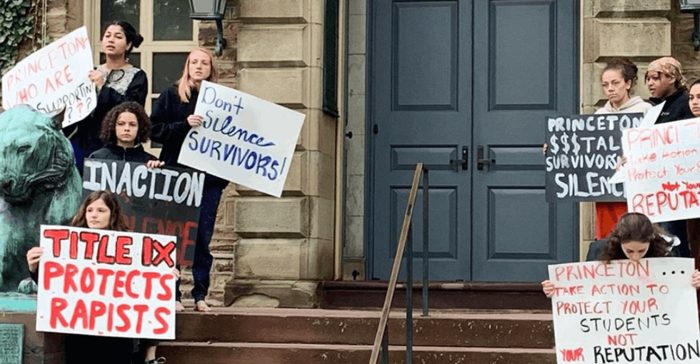 She was sexually assaulted, denied restitution and fined for protesting. Princeton students aren't having it.