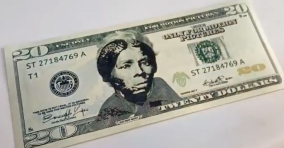 There's a new stamp that lets you legally transform $20 bills with the face of Harriet Tubman.