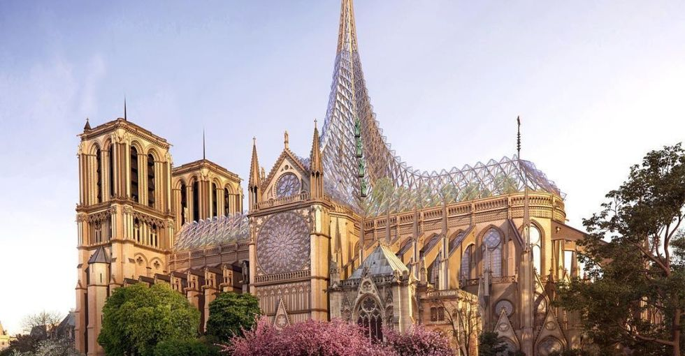 The designs for Notre Dame's new roof are eco-friendly and cool AF.