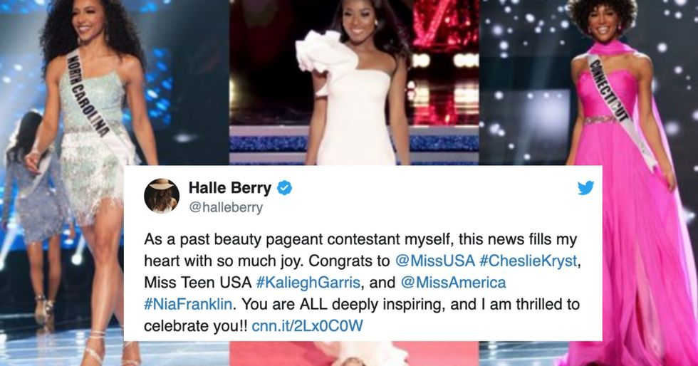 This year's Miss America, Miss USA, and Miss Teen USA winner are all black women.