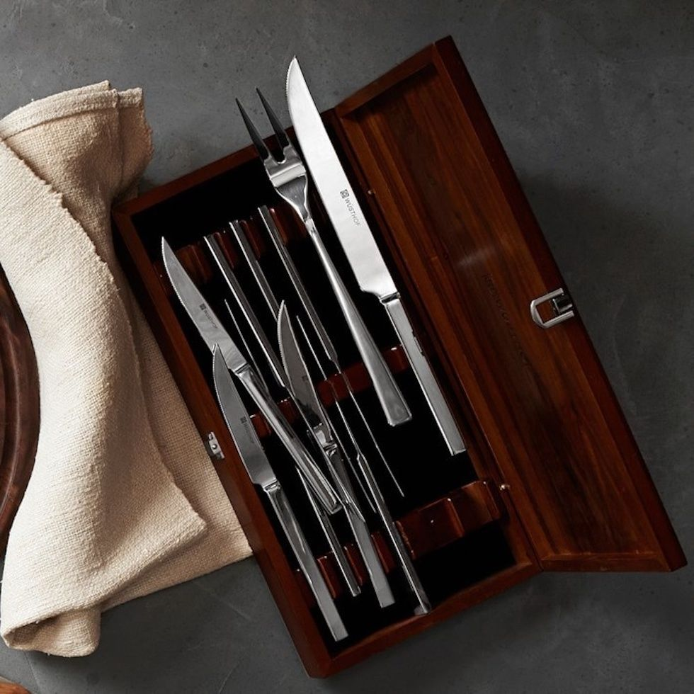 Wu00fcsthof Stainless-Steel 10-Piece Steak & Carving Knife Set