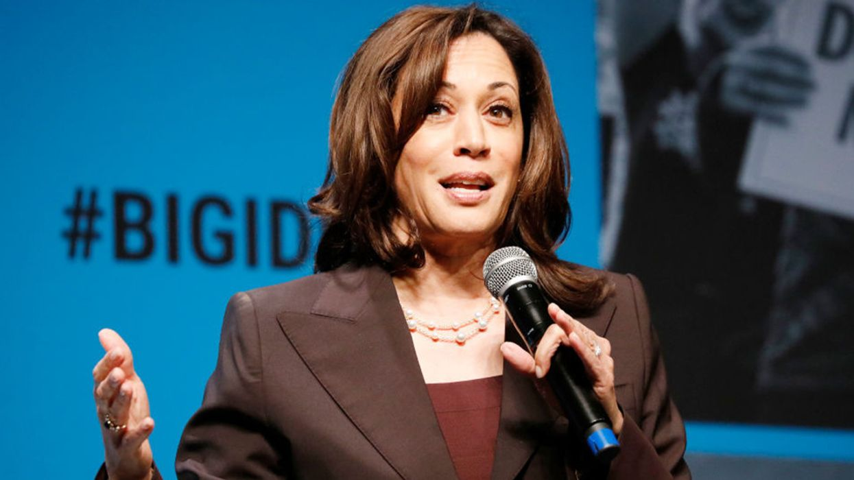 Animal Rights Protester Grabs Mic From Kamala Harris on San Francisco Stage