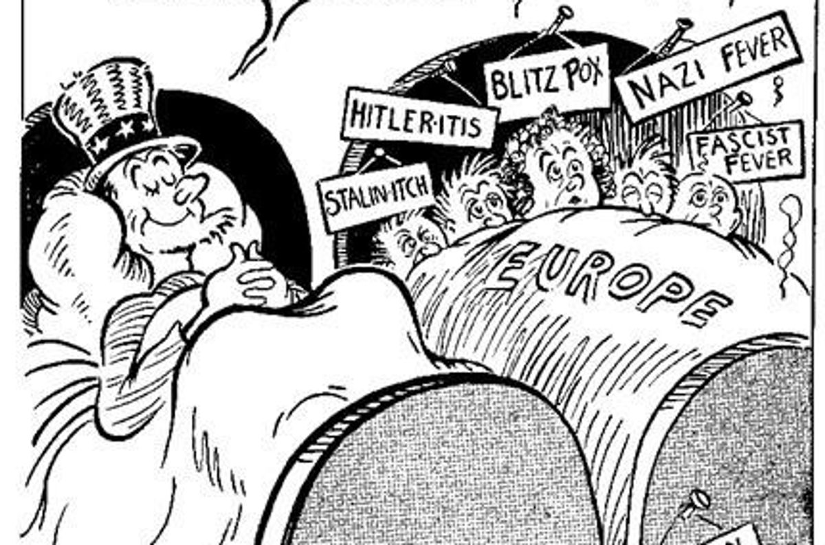"Before he was famous, Dr. Seuss used his cartoon skills to skewer ""America First"" fascists."