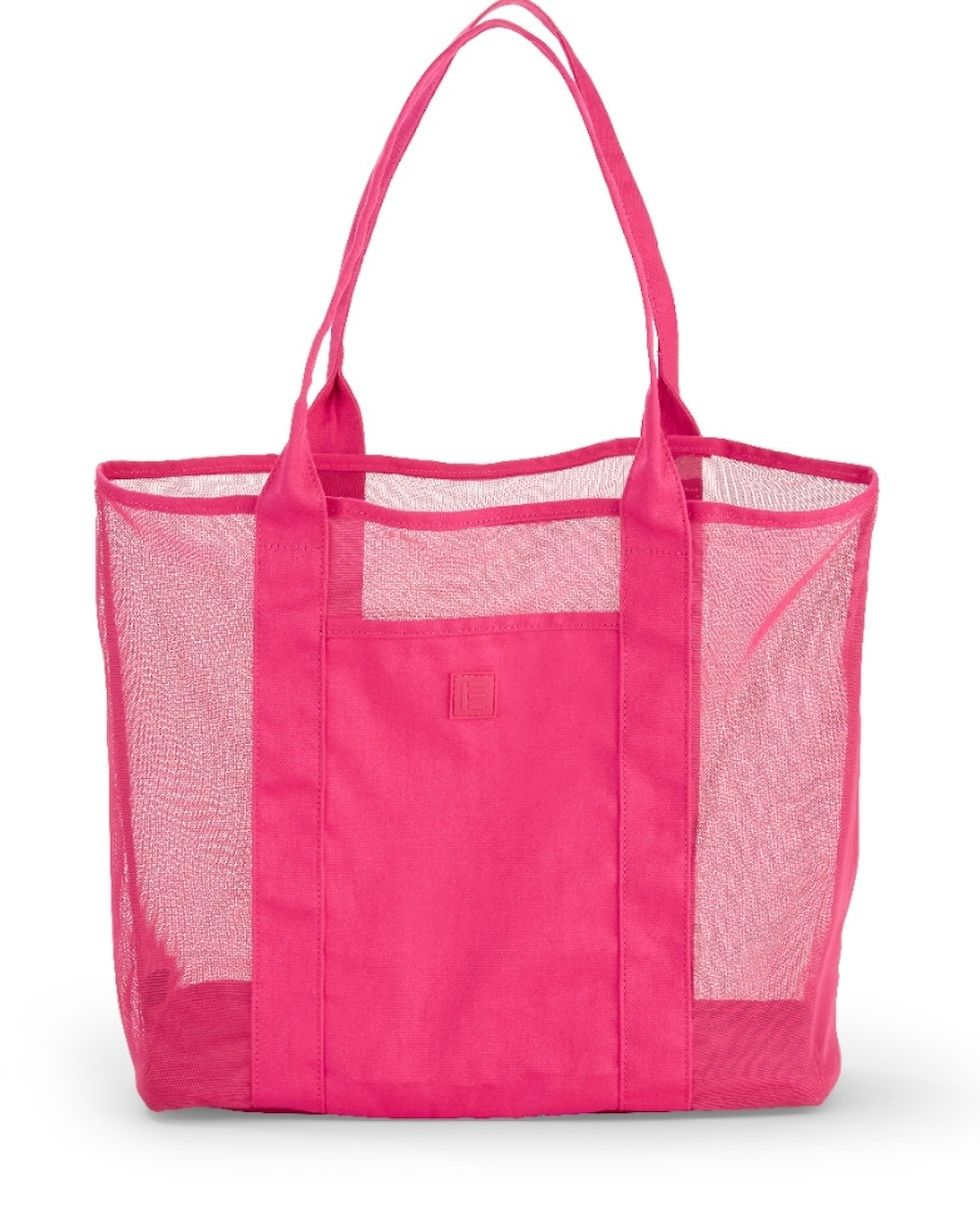 Ev1 From Ellen Degeneres Large Beetroot Pink Beach Tote
