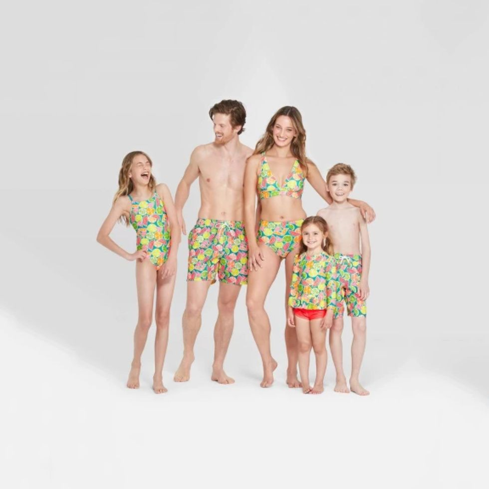 matching family swimsuits