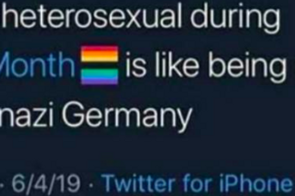 Homophobe gets flawlessly murdered by words for comparing Pride Month to Nazi Germany.